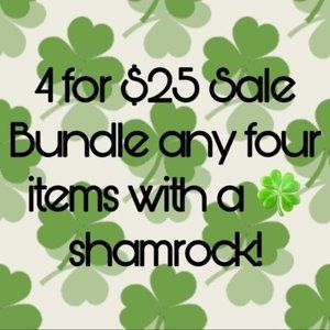 Jewelry - 🍀 4 for $25 Sale!! Any items with a Shamrock ☘️